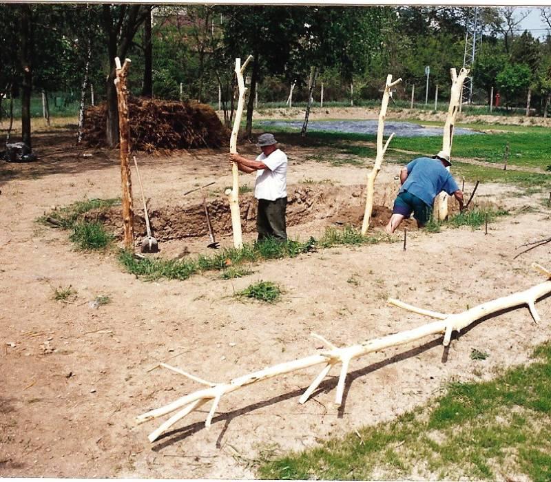 csiki pihenőkert régészeti park a kezdetekkor