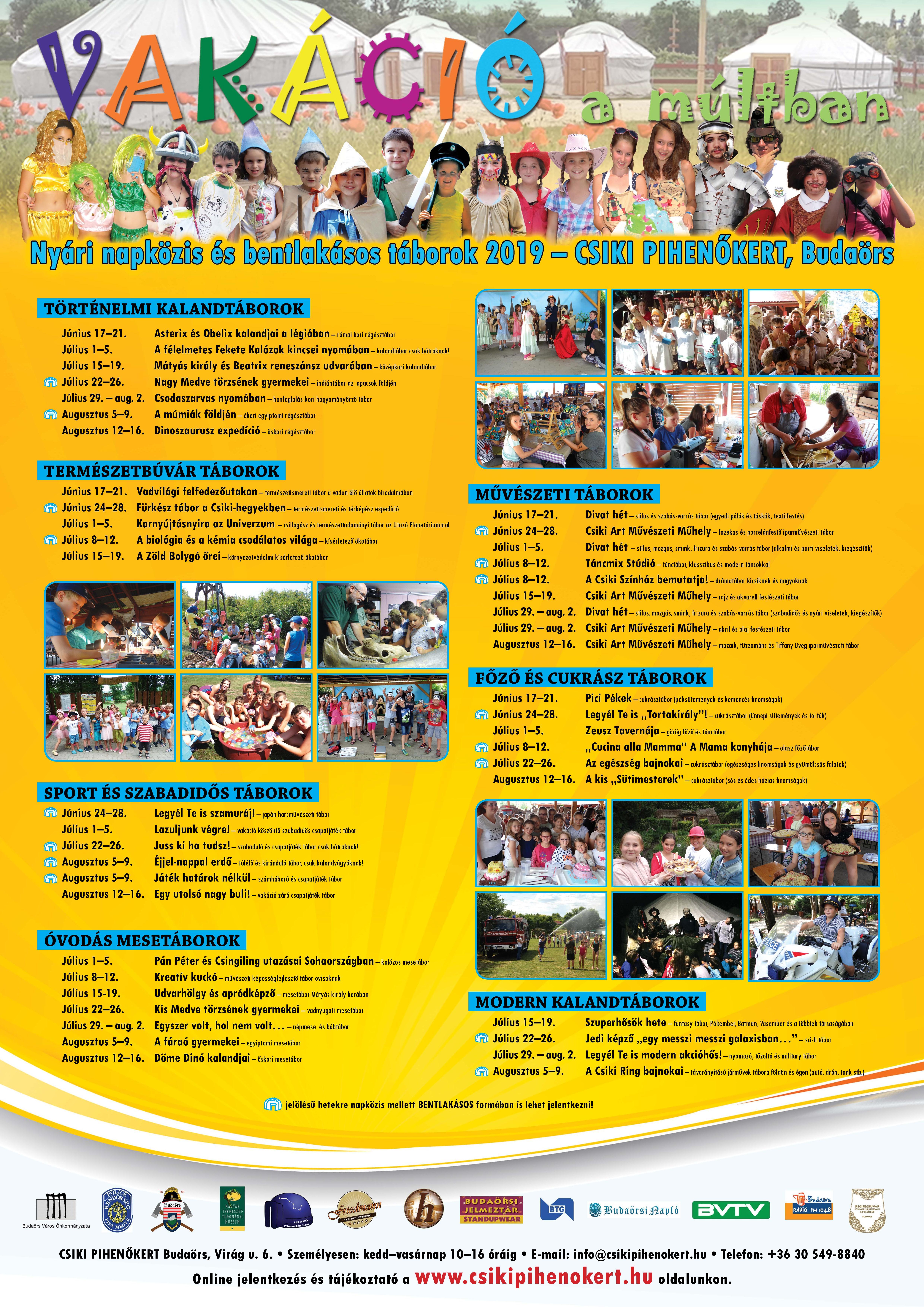 2019-es nyári tábor kínálatunkban, igyekeztünk az óvodás és iskolás korosztályoknak egyaránt izgalmas, játkékos és tanulmányi élményben gazdag táborokokat összeállítani.